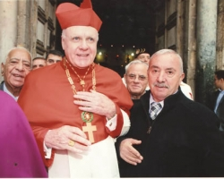 Great Master of the Holy Sepulcre Order, card. Edwin Fiedrick O'Brien with Mr. Wajeen Nuseibeh 2012