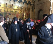 Easter ceremony at the Church of the Holy Sepulchre