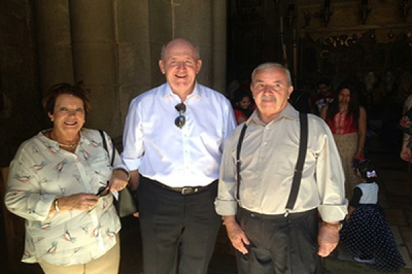 Mr. Wajeeh Nuseibeh with the Australian PM and his wife at the Church of the Holy Sepulcher - Jerusalem, September 2016