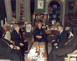 July 2007, The Armenian Patriarch hosting a reception prior to the Ceremony of the ' Holy Fire'